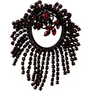 Fabulous Vintage Bohemian Garnet Style, Austrian-Made Brooch