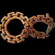 Vintage Renoir Copper Necklace, Mid-Century Geometric