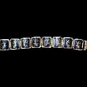 Vintage Siam Sterling Silver Panel Bracelet
