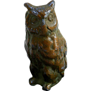 Early Cold-Painted Miniature Lead Owl