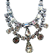 Vintage Mid-Century Rhinestone Necklace by Weiss