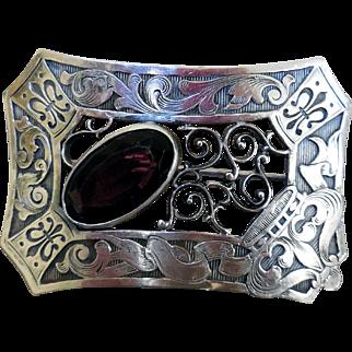 Elegant Art Nouveau Sash Pin