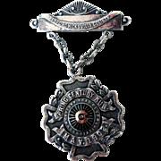 Spring Century Run Sterling Medal, 1902 100-Mile Bike Run