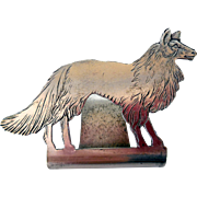 Money Clip, Figural Dog, EPNS, Early 20th Century