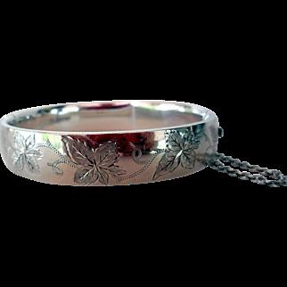 Vintage Sterling Silver Bangle Bracelet, Birmingham, England