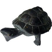 Vintage Bronze Turtle Tortoise Sculpture