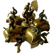 Vintage Brass Spice Trinket Jewelry Container