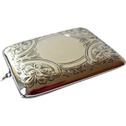 Antique Sterling Silver Locket, Card Case, Purse, Hand Chased