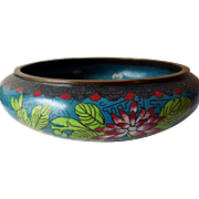 Antique Chinese Cloisonne Bowl, Great Ming Mark