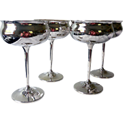 Vintage Sheridan Silver-Plated Toasting Goblets/Sherbet Cups, Set of 4