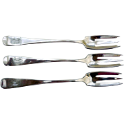 Sterling Silver Cocktail Forks, Theodore B. Starr & Dominick & Haff