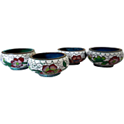Four Chinese Cloisonne Salt Dips, CA 1900