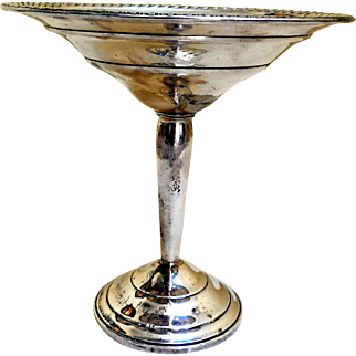 Vintage Sterling Silver Tazza, Compote