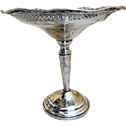 Vintage Sterling Silver Compote, Tazza