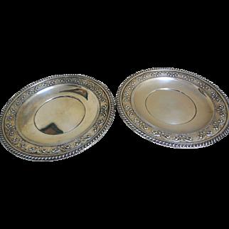 Vintage Pair Sterling Silver Serving Plates, John Wanamaker, Philadelphia