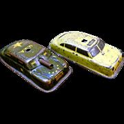 Vintage Tin-Litho Argo Cars, Tank & Taxi