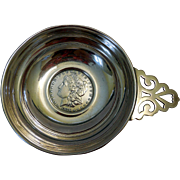 Sterling Silver Wine Tastevin, with 1878 Liberty Dollar