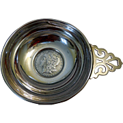 Sterling Silver Wine Tastevin, with 1885 Liberty Dollar