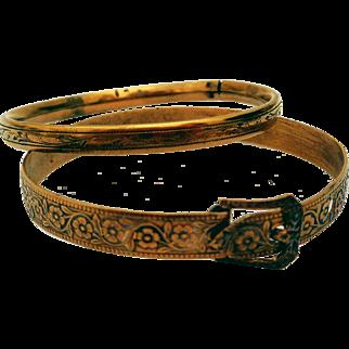 Victorian Child's Bracelets, (2) Gold-Filled