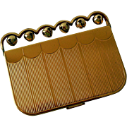 Vintage Coty Lady's Compact, Novelty with Bells