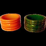 Vintage Bakelite Napkin Rings, Pair