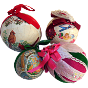Vintage Collection of  Holiday Baubles, Hand-Crafted