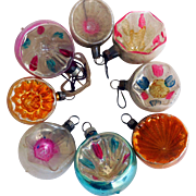Early Delicate Glass Christmas Ornaments