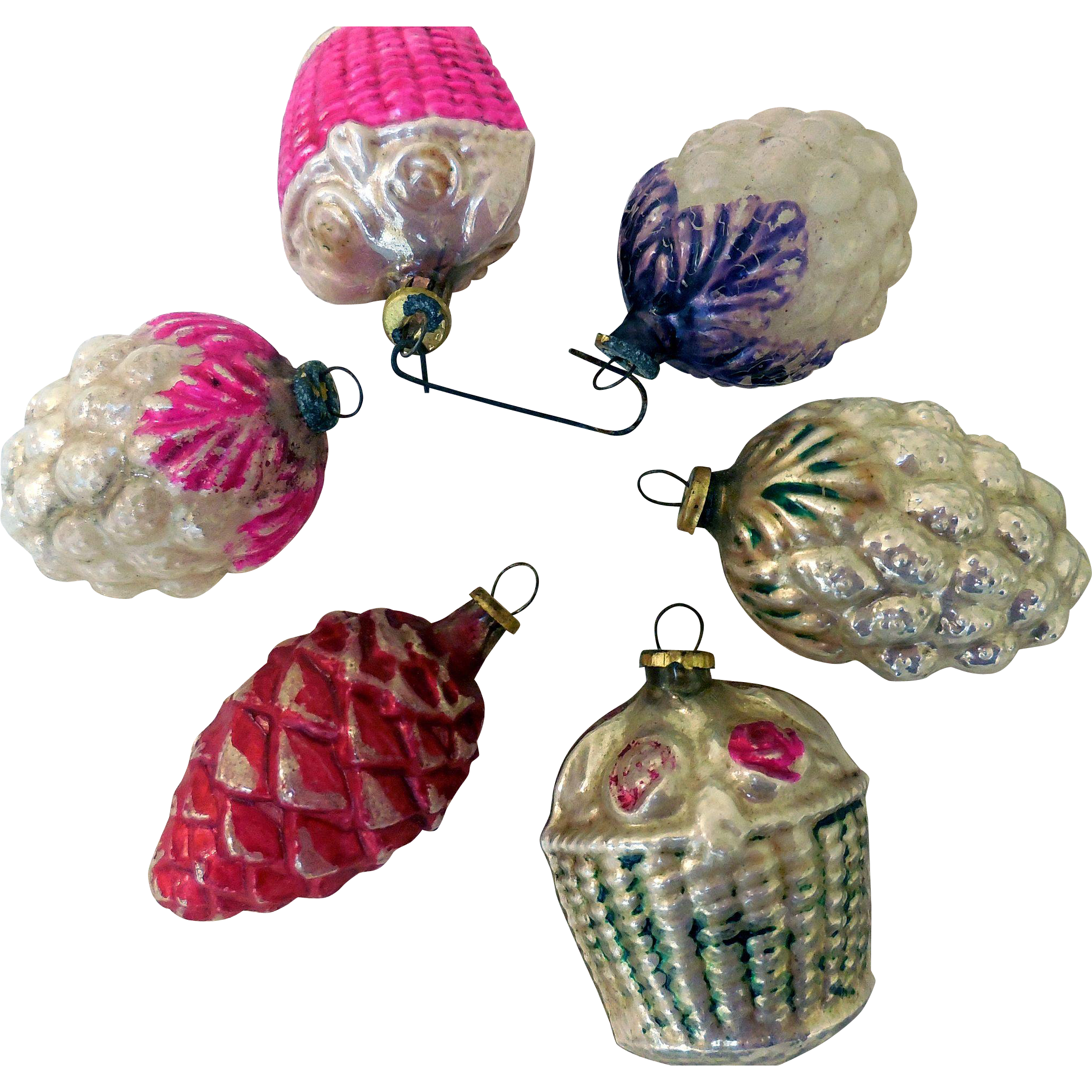 Vintage mini glass christmas tree ornaments japan from Vintage glass christmas tree ornaments