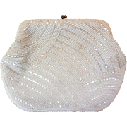 Vintage Beaded Clutch Bag, Purse, Japan, Ca 1940s/50s