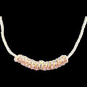 Cubic Zirconia Rondelle Necklace