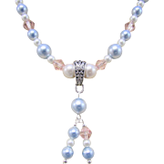 Swarovski Crystal Glass Pearls on Cable Chain Necklace
