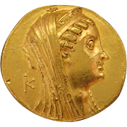 Ptolemaic Egypt Large Gold Ancient Coin Ptolemy VI - VIII, ca. 180-116 B.C. AV Octodrachm Alexandria Mint Arsinoe II