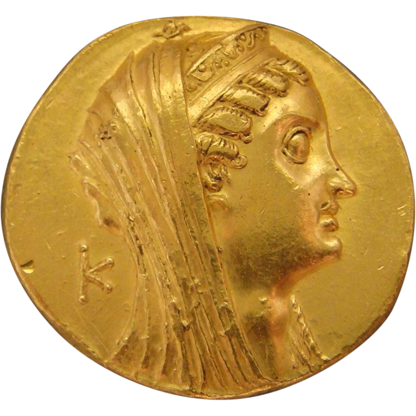 Ptolemaic Egypt Large Gold Ancient Coin Ptolemy VI