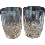 Waterford Crystal Short Stem Flat Tumbler 12 ounce Colleen Pattern Set of Two