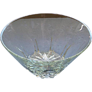 Princess House Crystal Large Center Piece Salad Serving Bowl Heritage Pattern