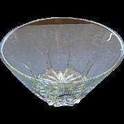 Princess House Crystal Large Center Piece Salad Serving Bowl Heritage Pattern