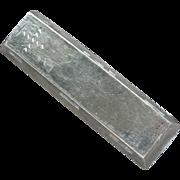 Vietnam 5 Teal Silver Bar Sycee Opium Trade Bullion Big Heavy Silver Bar Awesome