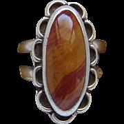 Vintage Sterling Silver Desert Jasper Southwestern Style Ladies Ring  Size 6.5