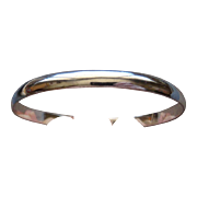 Large Vintage Sterling Silver Bangle Stack Bracelet Made In Old Mexico Very Nice