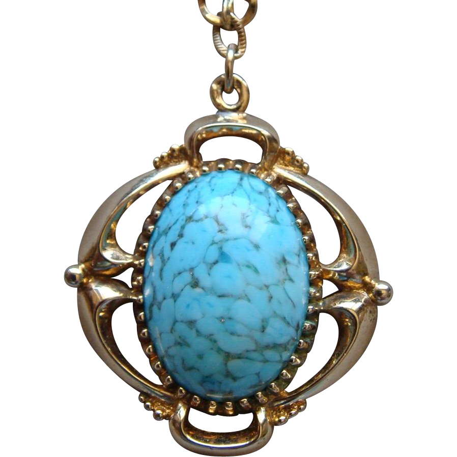Vintage Bell Trading Post Jewelry Turquoise Blue Colored