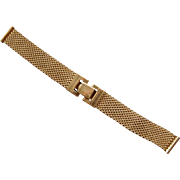 Vintage 50's 1/20 th 12 Karat Yellow Gold Filled Moray's Men's Watch Band Nice