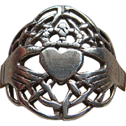 Classic Sterling Silver Irish Claddagh Ring With Crown Heart Hands Ring Lovely