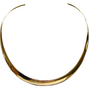 Vintage Sterling Silver Gold Vermeil Collar Necklace Made in Mexico Stunning
