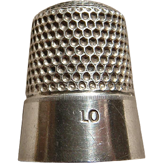 Vintage Sterling Silver Thimble Size 10 By Simons Brothers Very Nice