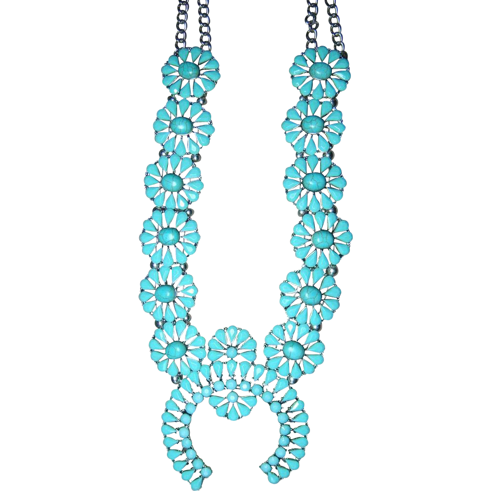 Big bold beautiful costume jewelry turquoise squash for Turquoise colored fashion jewelry