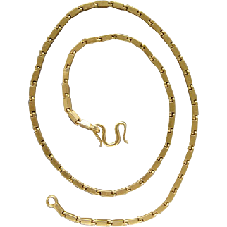 Heavy .9999 Solid Asian Gold Chain 24 Karat Pure Gold Necklace 19.5 Inches Nice