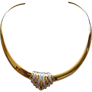 Sterling Silver Gold Vermeil Slide Pendant Collar Necklace Made in Mexico Lovely
