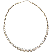 Vintage Native American Sterling Silver Navajo Pearls Beaded Necklace Gorgeous