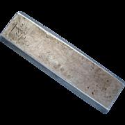 10 Lang Silver Bar Sycee Opium Trade Bullion Big Heavy Silver Bar Vietnam 1800's - Red Tag Sale Item