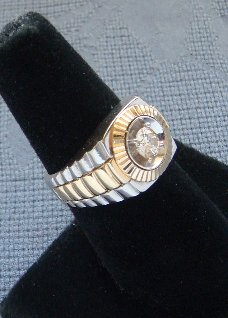 Beautiful Gold Rolex Band Ring | Jewellry\'s Website